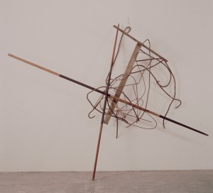 Imi Knoebel - Sol le Fig, 1983-87, found objects, metal and wood