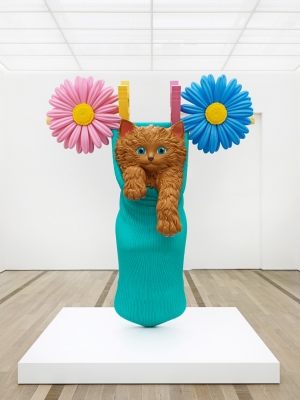 Jeff Koons - Cat on a Clothesline (Aqua), 1994-2001, rotationally molded polyethylene