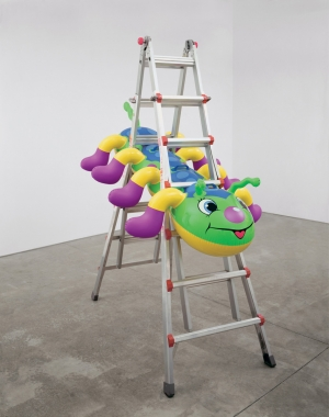 Jeff Koons - Caterpillar Ladder, 2003, polychromed aluminum, aluminum and plastic
