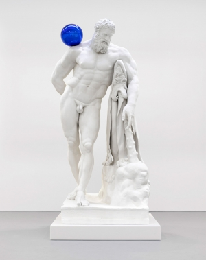 Jeff Koons - Gazing Ball (Farnese Hercules), 2013, plaster and glass