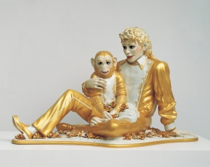 Jeff Koons - Michael Jackson and Bubbles, 1988