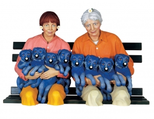 Jeff Koons - String of Puppies, 1988