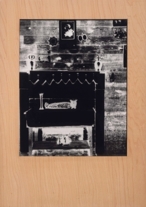Sherrie Levine - Untitled (after Walker Evans: negative) #8, 1989, photograph and wood frame