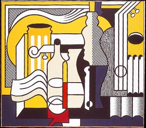 Roy Lichtenstein - Purist Still Life, 1975, oil and Magna on canvas