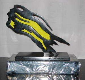 Roy Lichtenstein - Fredrick R. Weisman Award, 1991, painted and patinated bronze