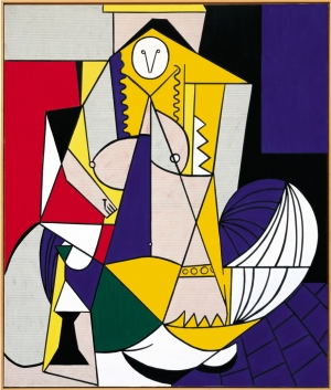 Roy Lichtenstein - Femme d'Alger, 1963, oil on canvas