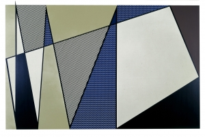 Roy Lichtenstein - Imperfect Painting, 1986, oil and Magna on two canvas panels