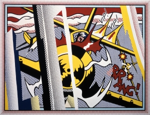 Roy Lichtenstein - Reflections: VIP! VIP!, 1989, oil and Magna on canvas