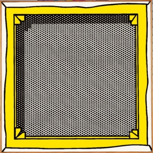 Roy Lichtenstein - Stretcher Frame, 1968, oil and Magna on canvas