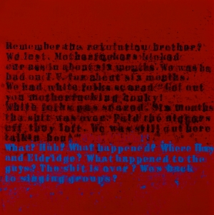 Glenn Ligon - Remember The Revolution #1, 2004, oil and acrylic on canvas