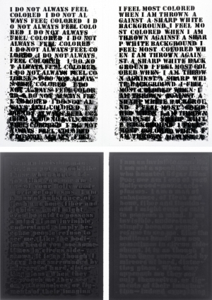 Glenn Ligon - Untitled: Four Etchings, 1992