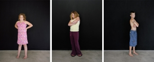 Sharon Lockhart - Pine Flat Portrait Studio, Sarah, Sarah, Mikey, 2005, three framed chromogenic prints