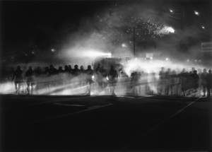Robert Longo - Untitled (Ferguson Police, August 13, 2014), 2014, diptych, charcoal on mounted paper