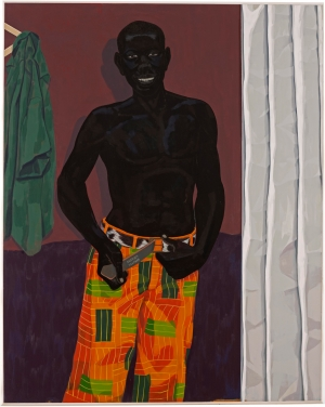 Kerry James Marshall - Untitled (Orange Pants), 2014, acrylic on PVC panel