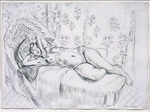Henri Matisse - Nu Couché, circa 1922-23, pen and ink on paper