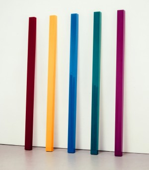 John McCracken - Flare, 2008, polyester resin, fiberglass, and plywood