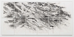 Julie Mehretu - Auguries, 2010, 12 panel aquatint with spit bite (from 48 plates)