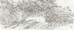 Julie Mehretu - Cairo, 2013, ink and acrylic on canvas