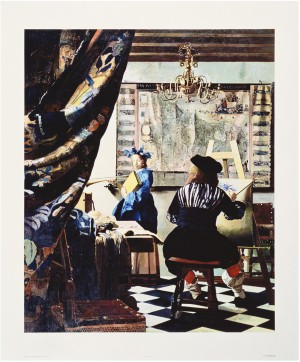 Malcolm Morley - Vermeer, Portrait of the Artist in his Studio, 1968, acrylic on canvas