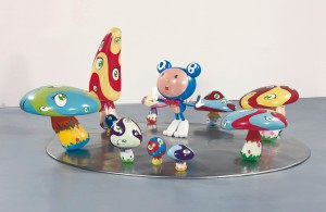 Takashi Murakami - DOB in the Strange Forest (Blue DOB), 1999, fiber-reinforced plastic, resin, fiberglass, acrylic and iron