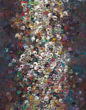 Takashi Murakami - End of Line, 2011, acrylic on canvas mounted on board