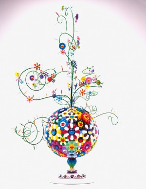 Takashi Murakami - Flower Matango (b), 2001-2006, fiberglass, resin, oil paint, lacquer, acrylic plates, and iron