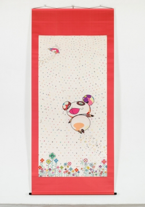 Takashi Murakami - The World of Sphere, 2003, wood, silk, acid dye, foil