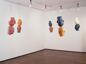 Bruce Nauman - Ten Heads Circle/Up and Down, 1990, wax, wire