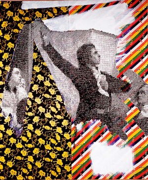 Sigmar Polke - Homme Chantant la Marseillaise, 1989, mixed media on fabric