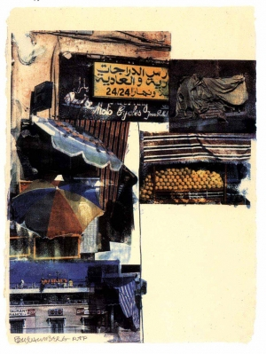Robert Rauschenberg - Flaps (Marrakitch), 2000, screenprint on paper