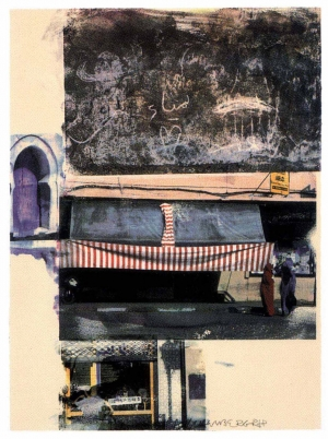 Robert Rauschenberg - Gossip (Marrakitch), 2000, screenprint on paper