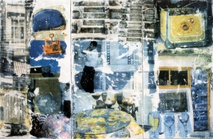 Robert Rauschenberg - On Hold (Arcadian Retreat), 1996, fresco