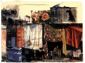 Robert Rauschenberg - Vamp (Marrakitch), 2000, screenprint on paper