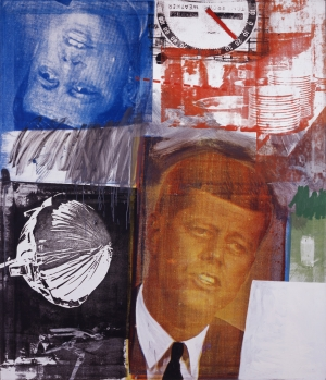 Robert Rauschenberg - Untitled, 1963, oil and silkscreen inks on canvas