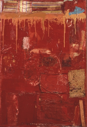 Robert Rauschenberg - Untitled, 1954, oil, fabric and newspaper on canvas