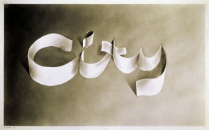 Ed Ruscha - CITY(#1), 1967, graphite on paper