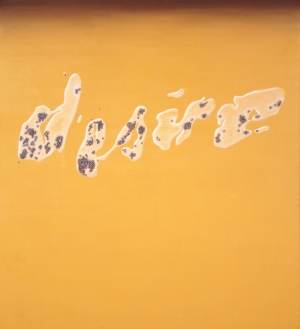 Ed Ruscha - Desire, 1969, oil on canvas