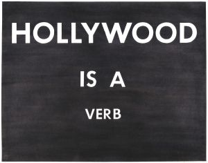 Ed Ruscha - HOLLYWOOD IS A VERB, 1979