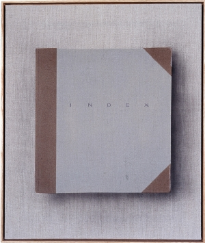 Ed Ruscha - Index, 2002, acrylic and India ink on raw linen
