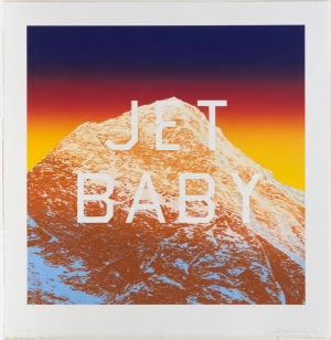 Ed Ruscha - JET BABY, 2011, lithograph