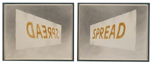 Ed Ruscha - Double Spread, 1973, gunpowder and tobacco on paper