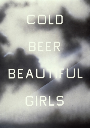 Ed Ruscha - The Beer, The Girls, 1993, acrylic on canvas