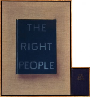 Ed Ruscha - The Right People, 2011, acrylic on linen