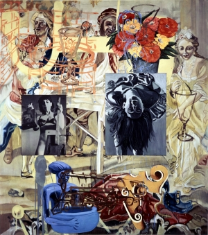 David Salle - False Aire, 1990, oil and acrylic on canvas