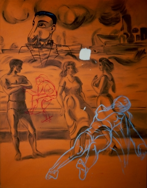 David Salle - Savagery and Misrepresentation, 1981, acrylic on canvas