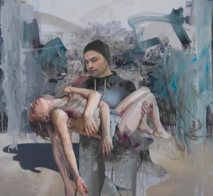 Jenny Saville - Blue Pieta, 2018, oil on canvas
