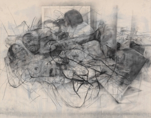 Jenny Saville - In the realm of the Mothers II, 2014, charcoal on canvas