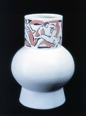 George Schneeman - Ceramic vase with erotic figures, 1980-81