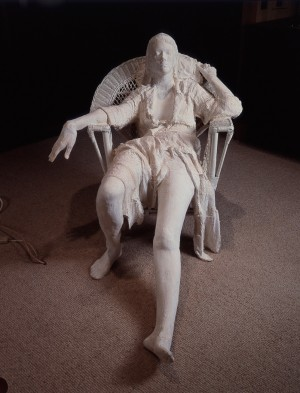 George Segal - Girl in White Wicker Chair, 1980