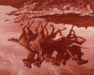 Mark Tansey - Forward Retreat, 1986, oil on canvas
